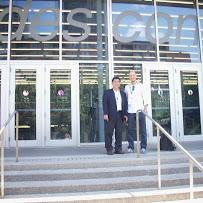 陳祕書長啟清(左)與義大利政治學者Andrew Filetti (右)合影